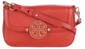 Tory Burch Grained Leather Crossbody Bag - ORANGE - STYLE