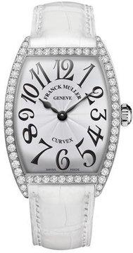 Franck Muller Ladies Curvex Diamond Watch with Alligator Strap