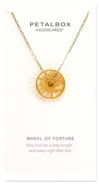 Dogeared Women's Petalbox Wheel Of Fortune Pendant Necklace (Nordstrom Exclusive)