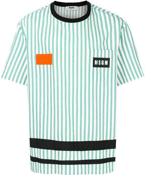 MSGM referee style T-shirt