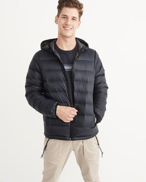 Abercrombie & Fitch Lightweight Down-Filled Packable Hooded Puffer