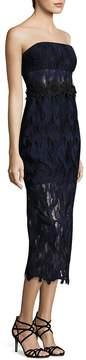 ABS by Allen Schwartz Women's Strapless Lace Midi Dress