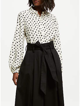 Somerset by Alice Temperley Acorn Button Blouse, Cream