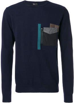 Kolor stylized pocket sweatshirt