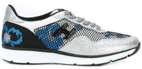 Hogan Flower & Glitter sneakers