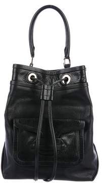 Pierre Hardy Grained Leather Bucket Bag