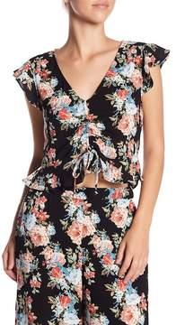 WAYF Sassari V-Neck Floral Print Blouse