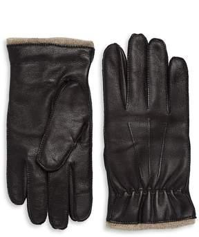 Saks Fifth Avenue Men's Leather Cashmere Gloves