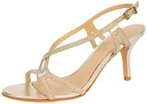 Pelle Moda Silver Evening Shoe