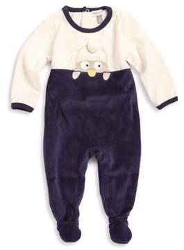 Absorba Baby Girl's Penguin Velvet Footie