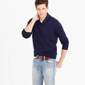 J.Crew Cotton-cashmere shawl-collar sweater