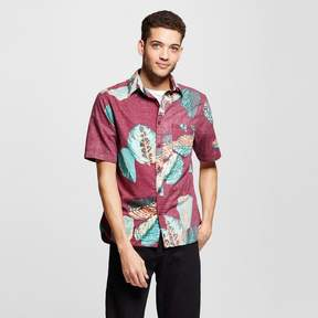 Mossimo Men's Short Sleeve Button Down Shirt Tropical Print