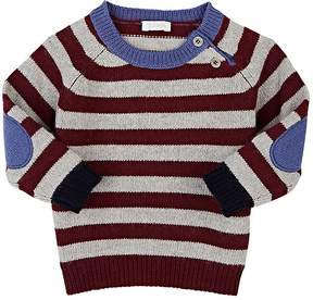Il Gufo Striped Stockinette-Stitched Wool Sweater
