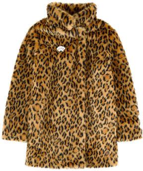 Scotch & Soda Imitation leopard fur coat