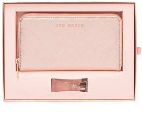 Ted Baker Leather Matinee Wallet & 5ml Mia Perfume Gift Set