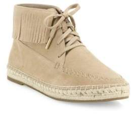 Joie Genevieve Fringed Suede Espadrille Moccasins