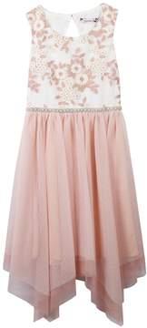 Speechless Girls 7-16 Floral Bodice Handkerchief Hem Dress
