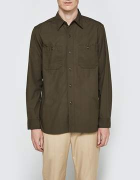 Beams Poplin USN Long Sleeve Shirt