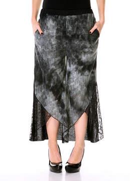Lily Navy Tie-Dye Lace Gaucho Pants - Women