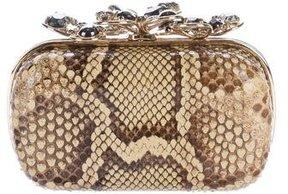Nina Ricci Embellished Python Clutch