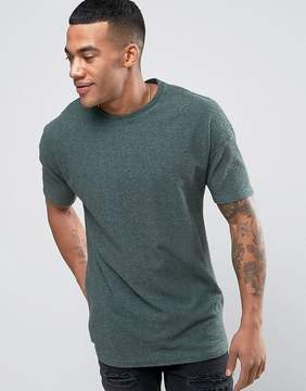 Religion T-Shirt In Textured Fabric With Drop Shoulder Detail