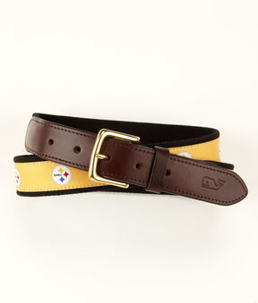 Vineyard Vines Pittsburgh Steelers Canvas Club Belt