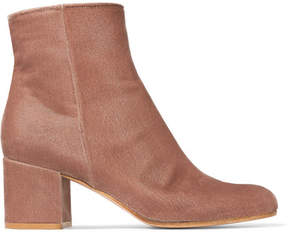Gianvito Rossi Margaux 65 Velvet Ankle Boots - Baby pink
