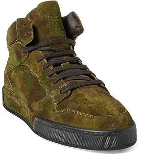 Ralph Lauren Giancarlo Camo Suede Sneaker