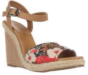 DOLCE by Mojo Moxy Posey Espadrille Wedge Sandals, Black.