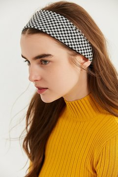 Urban Outfitters Houndstooth Silky Mini Square Scarf