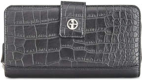 Giani Bernini Croc-Embossed Saffiano Zip-Around Wallet, Created for Macy's