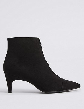 Marks and Spencer Lace Kitten Heel Ankle Boots