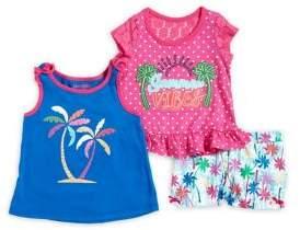 Nannette Baby Girl's Three-Piece Summer Island Set