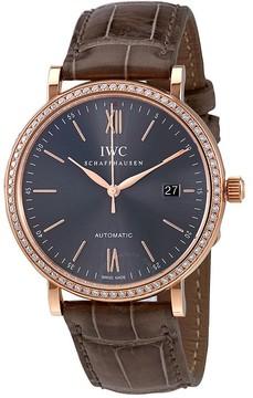 IWC Portofino Automatic Anthracite Dial Diamond Men's Watch 3565-16