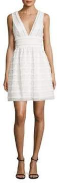 Aidan Mattox Fringed Lace Dress