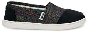 Toms Classics Black Metallic Velvet 10009237 Youth 4.5