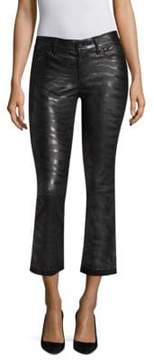 RtA Kiki Zebra Stripe Leather Pants