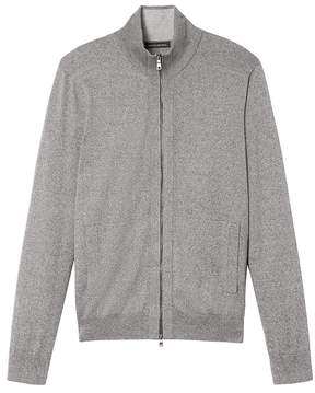 Banana Republic Silk Cotton Cashmere Full-Zip Sweater Jacket