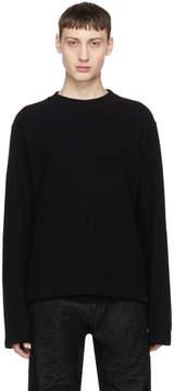 Helmut Lang Black Rib Detail Crewneck Sweatshirt