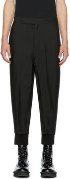 Neil Barrett Black Oversized Cuff Trousers