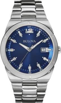 Bulova Blue Silver Quartz Analog Men's Watch 96B220