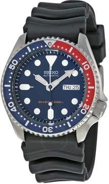 Seiko Divers Automatic Deep Blue Dial Black Rubber Men's Watch