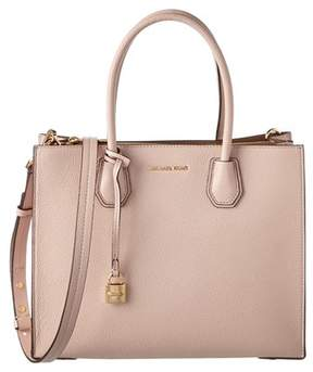 MICHAEL Michael Kors Mercer Large Convertible Leather Tote. - PINK - STYLE