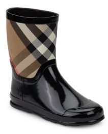 Burberry Kid's House Check Rubber Rain Boots