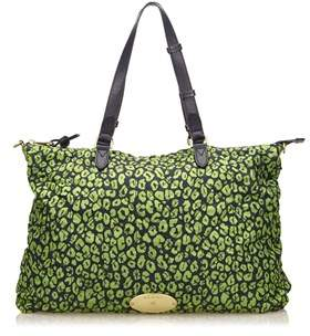 Mulberry Pre-owned: Quilted Printed Nylon Handbag.