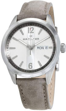 Hamilton Broadway Silver Dial Grey Leather Men's Watch