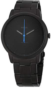 Fossil The Minimalist Black Satin Dial Men's Watch