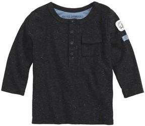 Robeez Infant Boy's Speckled Henley Shirt