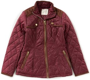 Copper Key Big Girls 7-16 Faux-Suede Trim Quilted Jacket