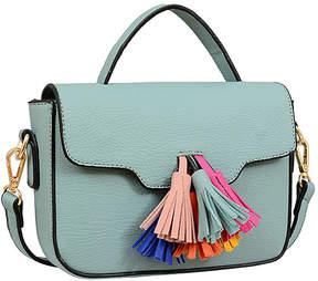 Mellow World Seafoam Fringe-Accent Crossbody Bag